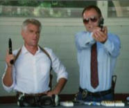 Fred Dryer and Tim Thomerson in Hunter
